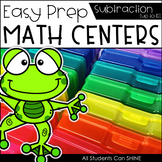 Math Centers {Subtraction to 10}