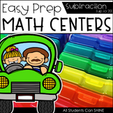 Math Centers {Subtraction to 20}