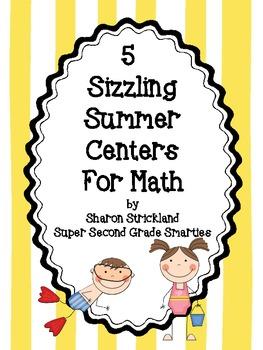 Math Centers Summer Themed- Second Grade