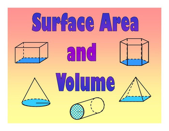 Math Centers: Surface Area and Volume