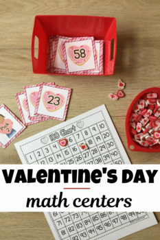 Valentine's Day Math Centers - Sweet Hearts by Rochel Koval