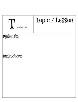 """Math Centers """"T"""" template Teacher Time"""