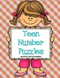 Math Centers: Teen Numbers Puzzles