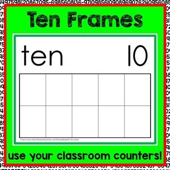 Ten Frame Math Center