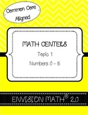 Kinder Common Core Envision Math® Centers - Topic 1 Numbers 0-5