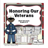 Veterans' Day Math Task Cards