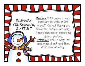 2nd Grade Math Centers - Winter
