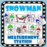 Math Centers Winter Snowman Measurement Station