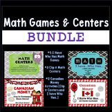 Math Centers and Activities Growing Bundle (Canadian Money