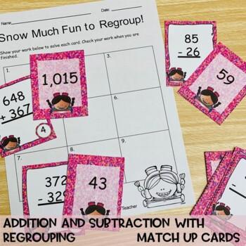 Third Grade Math Centers and Activities - Snow Much Math