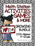 Math Centers and Games (Monthly) - Bundle