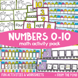 Math Centers and Games for Numbers 0 to 10 {Math Activities Pack #6}