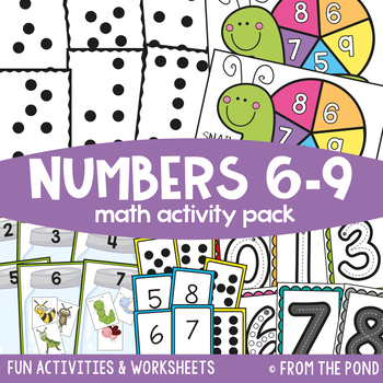 Math Centers and Games for Numbers 6 to 9 {Math Activities Pack #5}