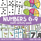 Math Centers and Games for Numbers 6 to 9 {Math Activities