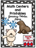 Math Centers and Printables - Winter / January Theme