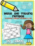 Missing Numbers to 20 {Math Center or Station Activity} Print, Laminate & Write