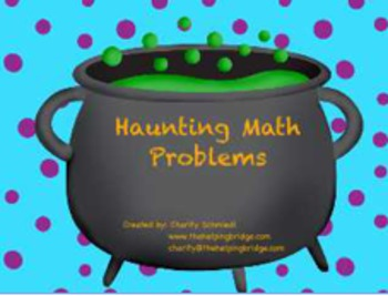 Math Centers at Halloween Time!