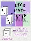 Math Centers dice