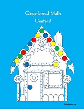 Math Centers kindergarten, 1st, 2nd grade - Gingerbread Theme