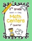 Math Centers for 2nd Grade (1st Quarter - Common Core)
