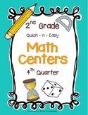 Math Centers for 2nd Grade (4th Quarter - Common Core)