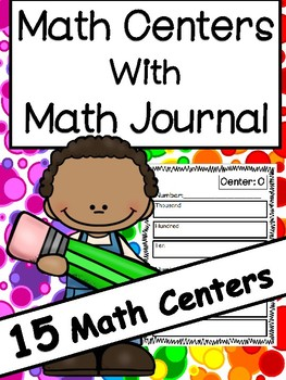 Math Centers for 3rd Grade with Corresponding Math Journal