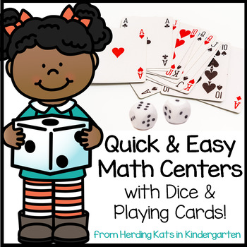 Math Centers for Dice and Playing Cards