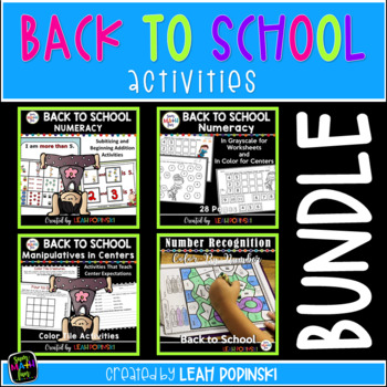 Back to School Numeracy Centers and Activities