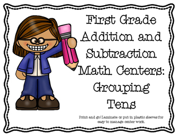Math Centers for First Grade: Making groups of ten and more