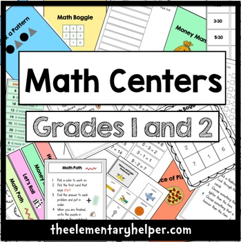 Math Centers for First and Second Grade
