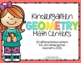 Kindergarten Math Centers: Geometry