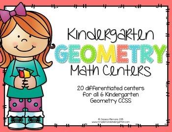 Kindergarten Math Centers: Geometry