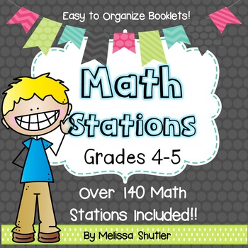 Math Centers for Grades 4 and 5- Growing Bundle by Melissa Shutler
