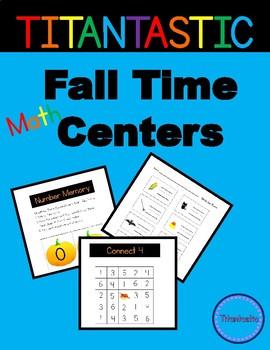 Math Centers for Kindergarten (Fall Themed)