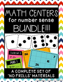 Math Centers for Number Sense BUNDLE!