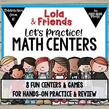 Math Centers for Subtraction from 10 with Lola
