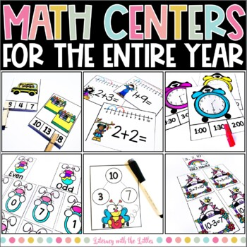 Math Centers for Task Boxes Bundle