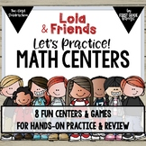 Math Centers for Two-Digit Subtraction with Lola