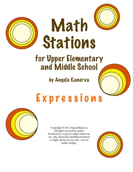 Math Centers for Upper Elementary and Middle School: Expressions