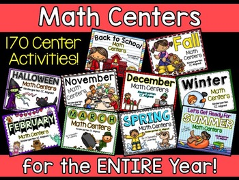 Math Centers for the Year BUNDLED! Aligned to the CC