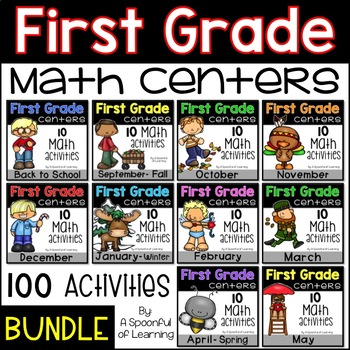 Math Centers for the Year - First Grade