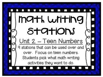 Math Centers - Math Writing Stations - Unit 2: Teen Numbers