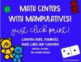 Math Centers using Manipulatives