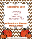 Counting and Comparing Numbers Math Centers (Autumn Theme) - CCSS Aligned