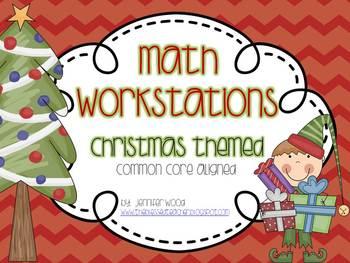 Math Centers...Christmas Bundle
