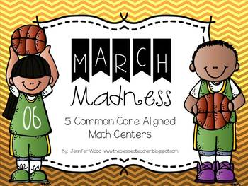 Math Centers.....March Madness {Common Core aligned}