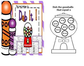 Math Centre - Bingo Dabbing addition