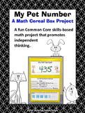 Math Number Sense Cereal Box Project Common Core Activity