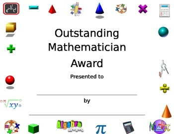 Math Certificate 1
