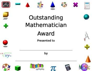 math certificate teaching resources teachers pay teachers